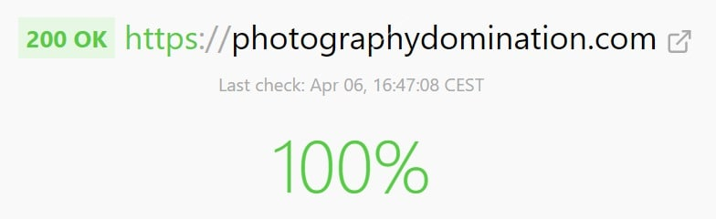 Uptime For Photography Domination
