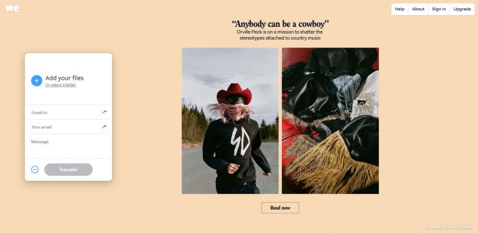 Using WeTransfer To Get Photos To Clients